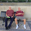 Big Al & Frankie D ..color coordinated on a bench