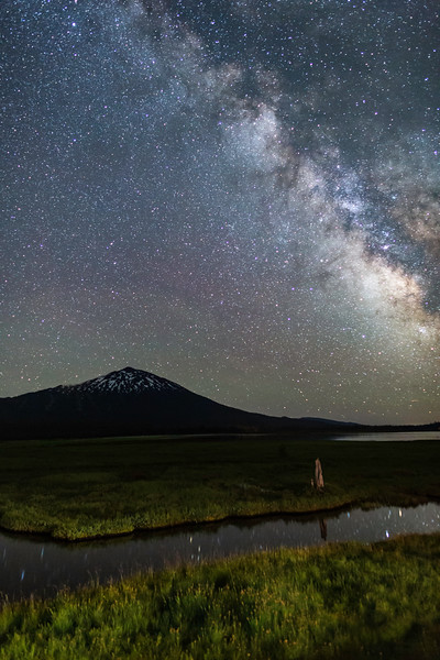 Milky Way and Reflections at Mt. Bachelor