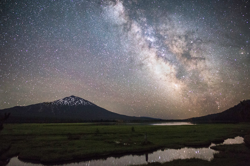 Milky Way Shining Over Mt. Bachelor