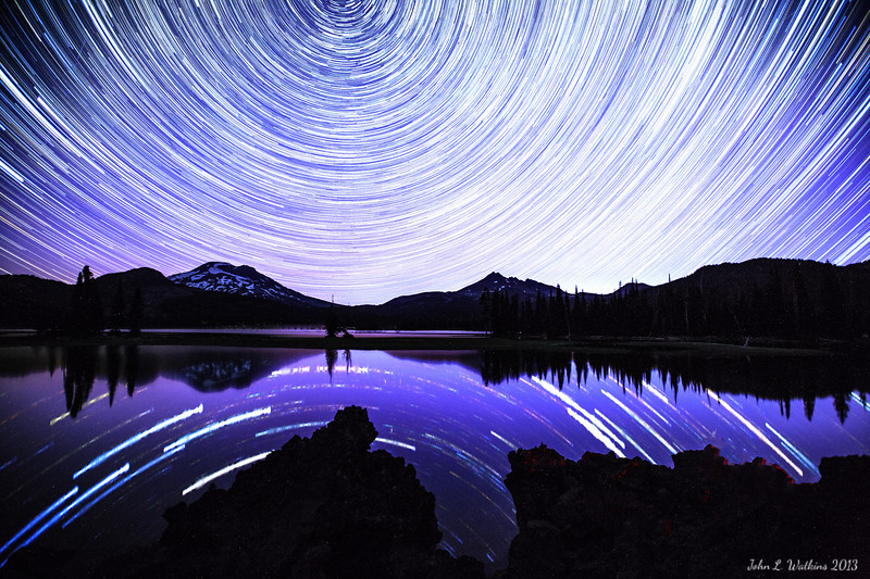 Star Trails Over Sparks Lake No. 3