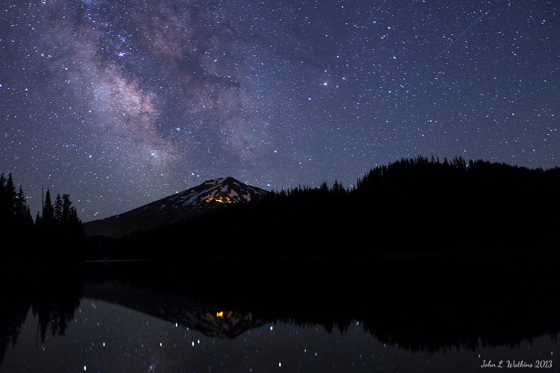 Milky Way Over Mt. Bachelor at Todd Lake No. 1