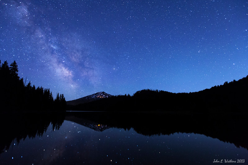 Milky Way Rising Over Todd Lake No. 1