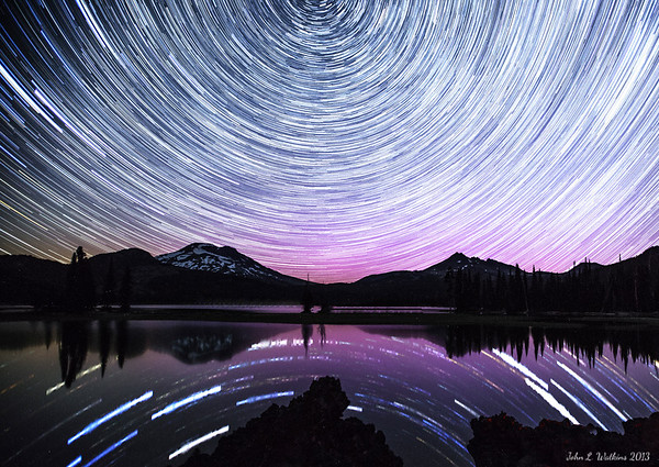 Star Trails Over Sparks Lake No. 2