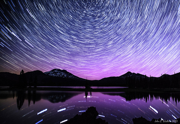 Star Trails Over Sparks Lake No. 1
