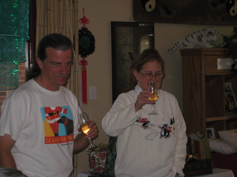 A toast to a job well done!  Christmas Social December 5, 2010
