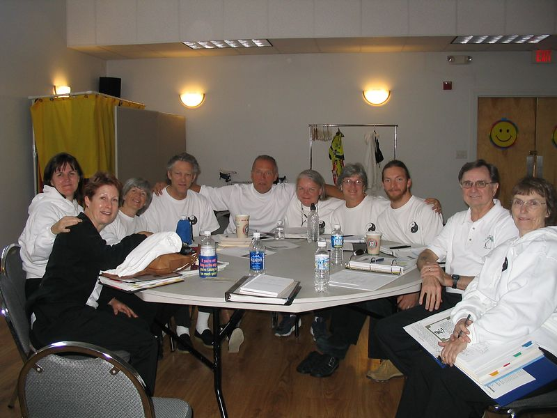 From Left to right:<br /> Janice Wells IT, Judith Forsyth Instructor, Bonnie Osborn IT, William Osborn IT, Marty Kidder IT, Lizz Lipp IT, Pat Sullivan IT, Nickolas Levinsky IT, Phillip Szpiech Instructor, Barbara Dunn Hartin IT.  October 18, 2003 Instructor Trainee Class.