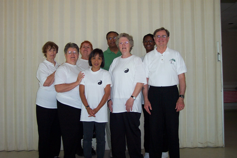 Back row Lt - Rt=Bobbie Hardin, Assisting Instructor; Martha Hill, Graduate; Charles Whatley, GSS; Nichole Diggs, Graduate.  Front row Lt - Rt=Joyce Gaus, Graduate; Cecilia Carpenter, Graduate; Ruth Snider, Assistant Instructor; Phillip Szpiech, Instructor Longevity Tree.