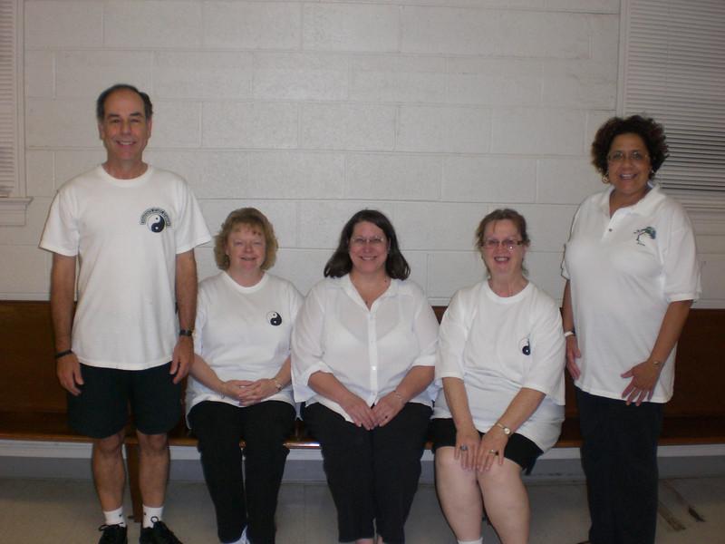 Tuesday July 2007 Hampton Class Left to Right: Dave Watts Class Coordinator, Barbara Fagley, Ann Higgenbothem, Pat Walls, Pam Paster Instructor.