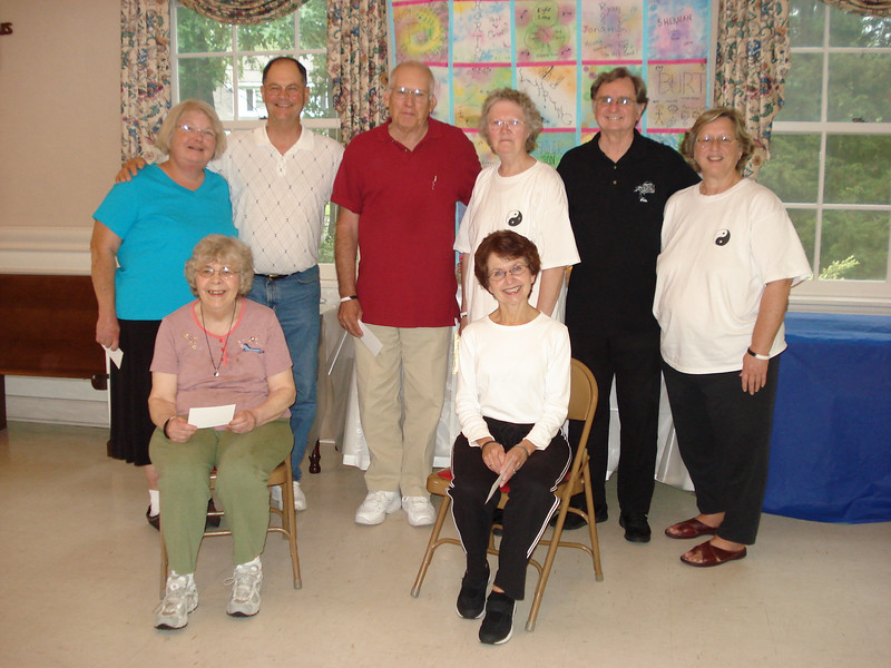 Tai Chi for Diabetes Graduating Class May 2007.  Lt to Rt Standing: Charlotte Pawley, Ron Fritz, Jim Hostman, Ruth Snider - GSS, Phillip Szpiech - TCH Instructor, Deborah Tillet - GSS  LT to RT Seated: Betty Wright, Donna Whaley.