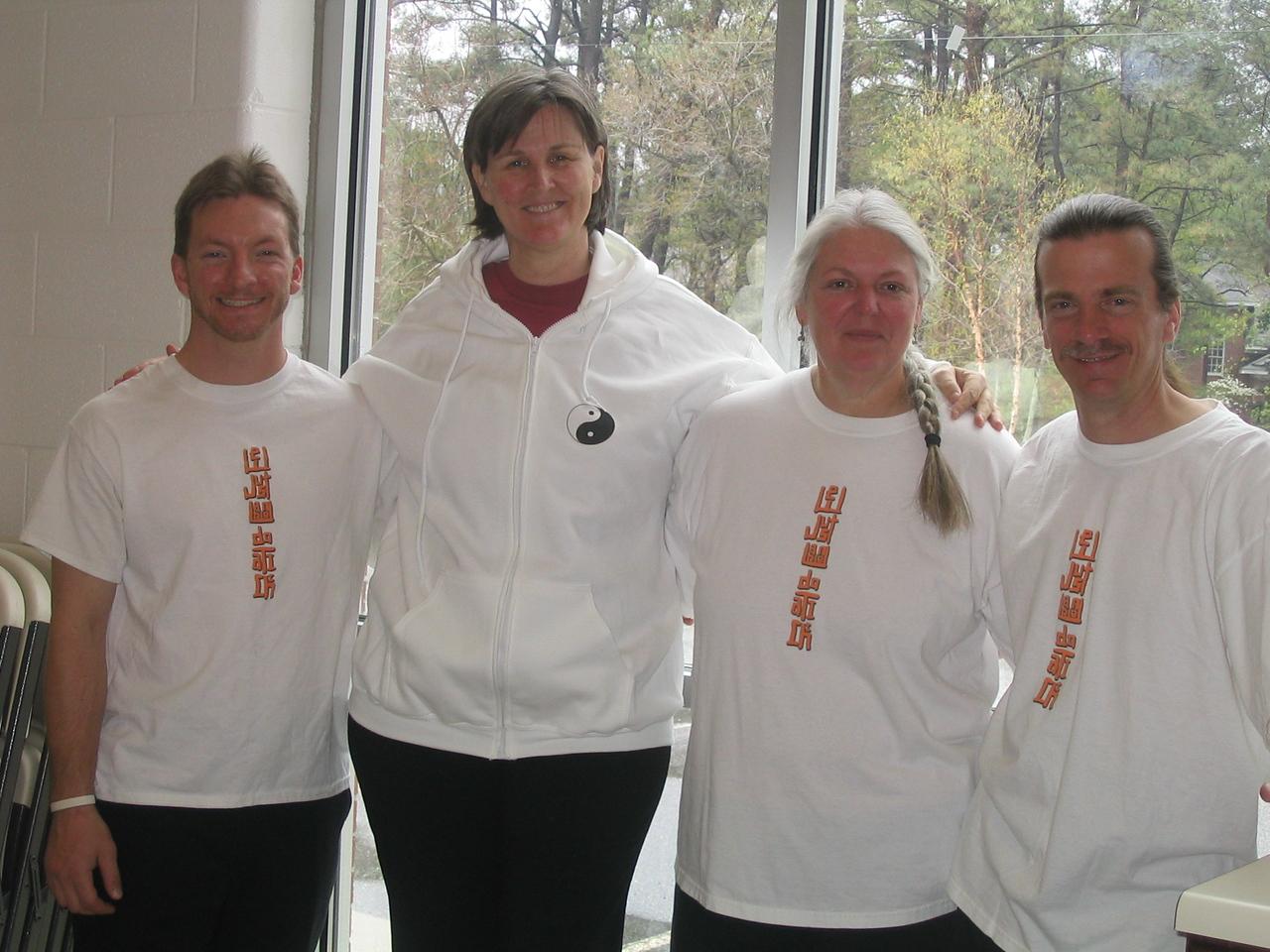 Nik Levinsky, Judith Forsyth-Teacher, Elise Wolf, Tom Wolf. New Dragon Graduates. 11-01-06
