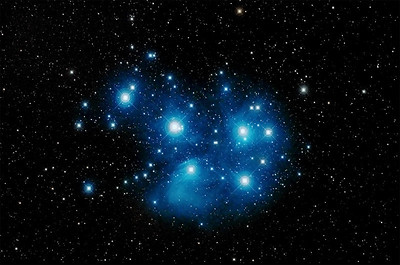 M45 also known as the Pleiades Star Cluster and associated nebula.  Wiki Link