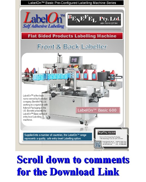 LabelOn™ Basic 600 – Front and Back Flat Sided Labeller