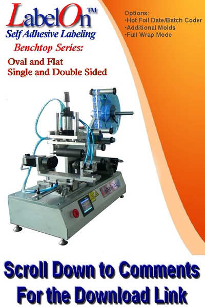 LabelOn™ Benchtop – Front and Back - Oval and Flat