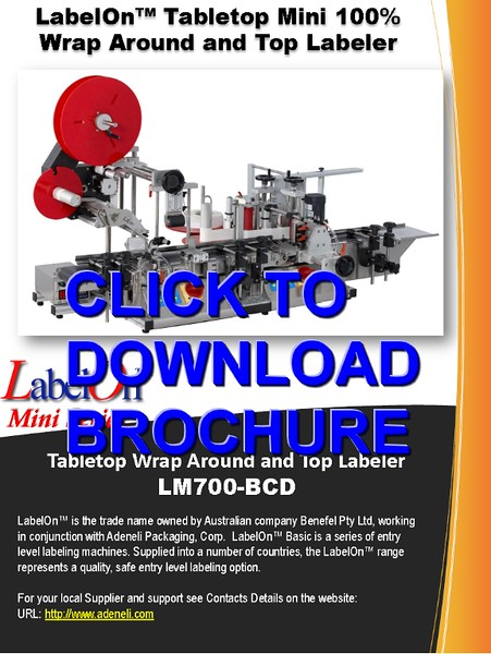 LabelOn™ Mini - Top (lid) and Round (body) Labeler