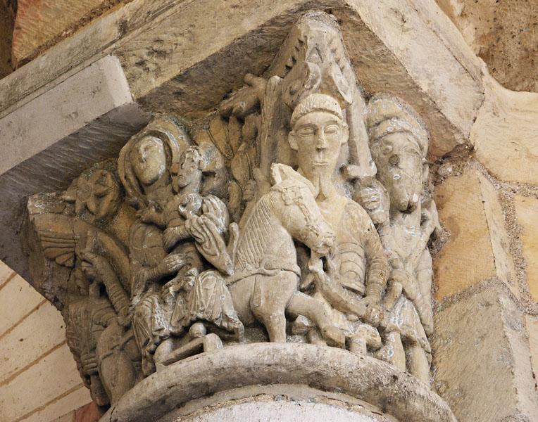 No. 34: Romanesque capital, S. Benoit sur Loire.