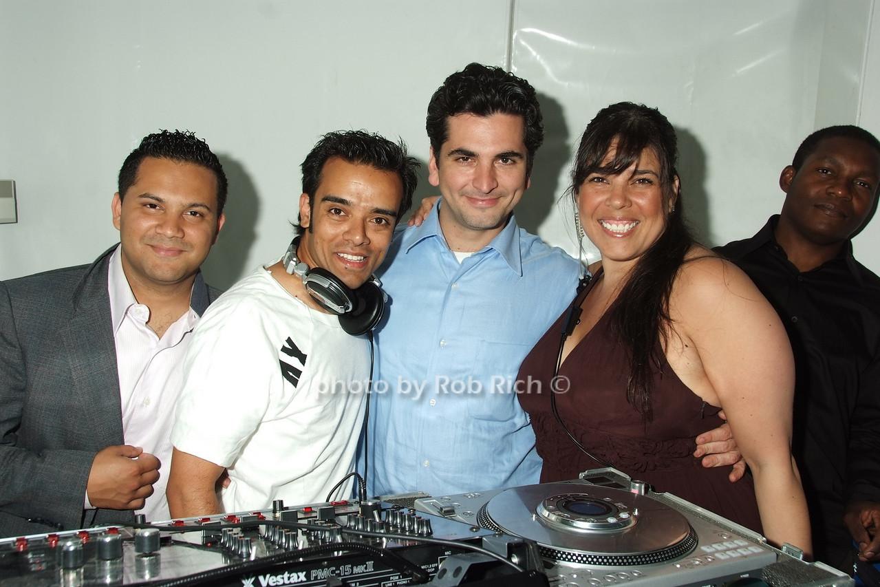 DJ's and Michelle Diaz photo by Rob Rich © 2008 robwayne1@aol.com 516-676-3939