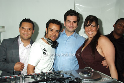 DJ's and Michelle Diaz photo by Rob Rich © 2008 robwayne1@aol.com 516-676-3939
