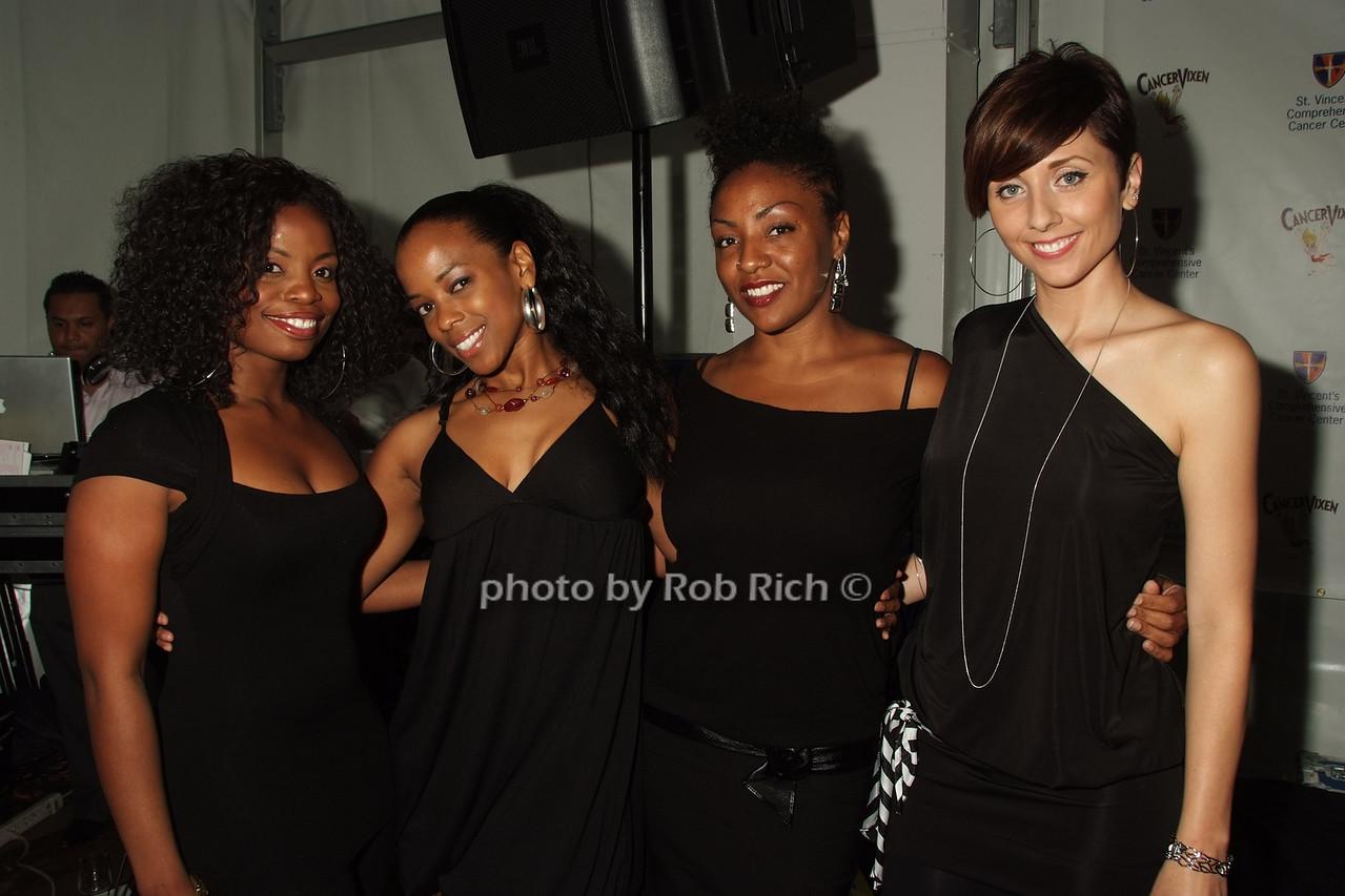 Dee Dickson, Lorraine Dewar, Nishee Scott, Tina Brown photo by Rob Rich © 2008 robwayne1@aol.com 516-676-3939