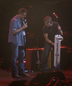 After Keith got his invitation to join the Opry, Vince reminded him that they still had some work to do...so move that thing outta the way!