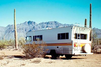 camper in desert