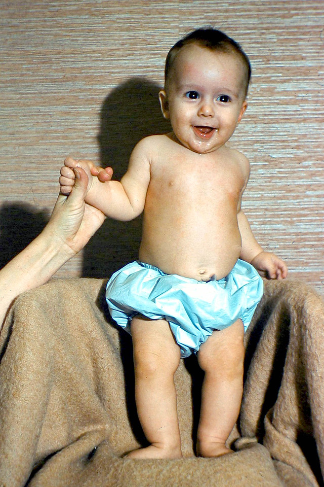 cwb standing on chair 3 months