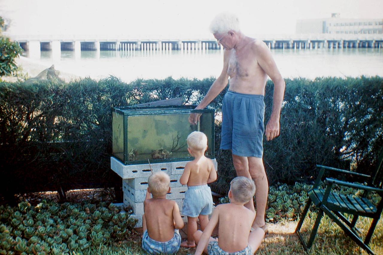 uncle bill and kids at aquarium