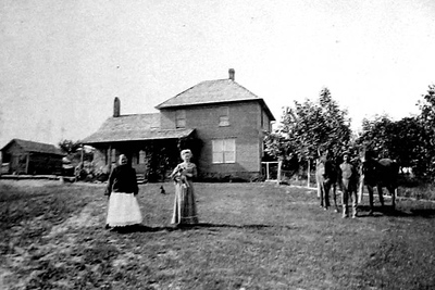 House in Platte Co. South of Newman Grove  Bengtson Archival, Elmer Nilsson, Johanna Maria Person Nelson, Nebraska, Sarah Matilda Nilsson, Sven Peter Nelson House