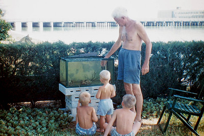 uncle bill and kids at aquarium