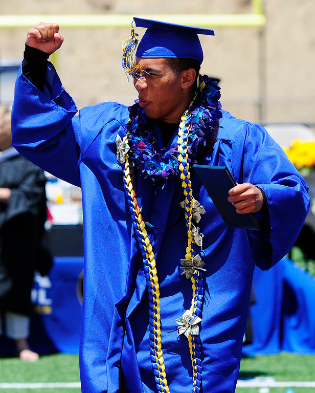 . BENICIA, CA - JUNE 9, Phoenix McGee during graduation at Benicia High School on Saturday. (CHRIS RILEY/TIMES-HERALD)