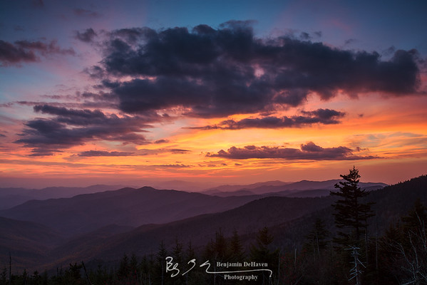 Great Smoky Sunset Fire