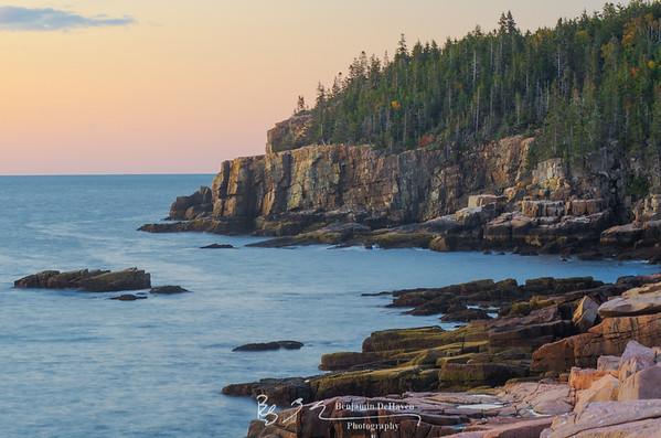 Otter Cliffs At Dawn