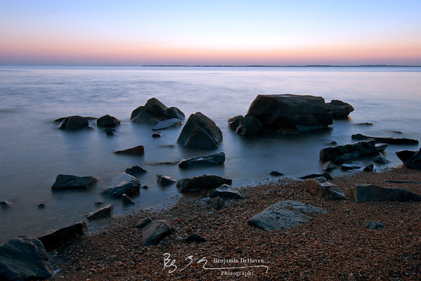 Rocks at Dawn On The Chesapeake