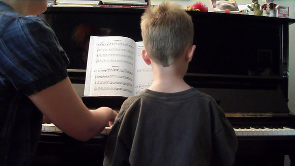 August 2012 - Ben playing a Twinkle Twinkle duet