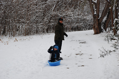 Feb 2011 - playing in snow