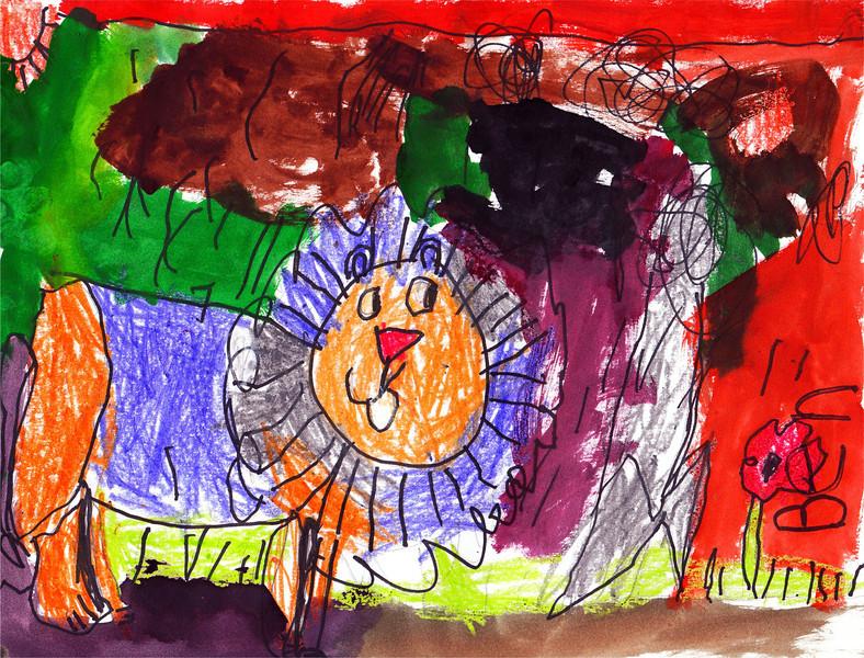 lion painting_kindergarten