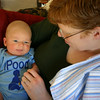 Benjamin and mum take a break after lunchtime