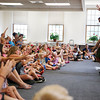 HOLLY PELCZYNSKI - BENNINGTON BANNER Kids at The Bennington Free Library enjoy a story-telling event led by Vermont based author Marv Klassen-Landis from Windsor VT. Klassen-Landis's visit was sponsored by CLIF (children's Literacy Foundation) and each child was given two books of their choice to take home.