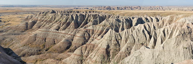 <p>Badlands landscape<br>Panoramic from eight shots taken with a Canon Digital Rebel XT and EF 50mm f/1.4