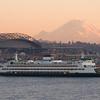 Washington State Ferry and Mt. Rainier
