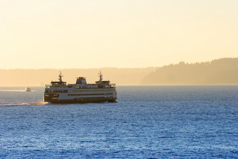 Washington State Ferry departing Elliot Bay