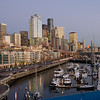 Seattle skyline and Bell Harbor Marina