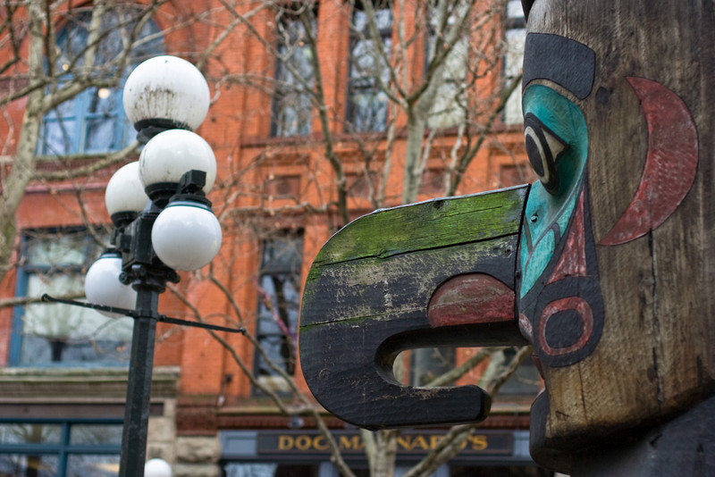 Totem Pole in Pioneer Square