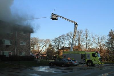 Bensenville 3rd alarm Fire 11-19-17