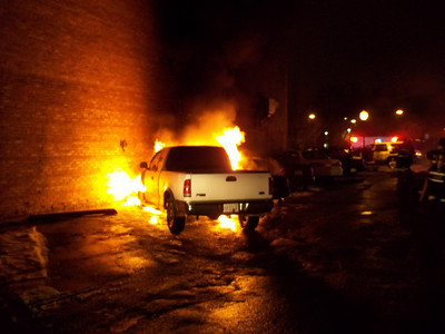 Bensenville FPD  vehicle fire   2-27-2011