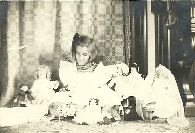Hazel and her dolls