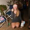 2017-12-02 Benson Hillary John Mendes Reveal - Hills kneeling w boy paper glasses