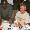 2016-09-24 Benson Tanzania Africa (Sat) Arusha - Legendary Lodge - Pete at bithday dinner w cake