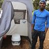 2016-09-25 Benson Tanzania Africa (Sun) Kilimanjaro Day 01 Forest Camp - Portable Toilet