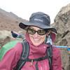 2016-09-28 Benson Tanzania Africa (Wed) Kilimanjaro Day 04 Barranco Camp - Missy at Lava Tower