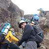2016-09-29 Benson Tanzania Africa (Thu) Kilimanjaro Day 05 Barranco Wall - Pete near top 01